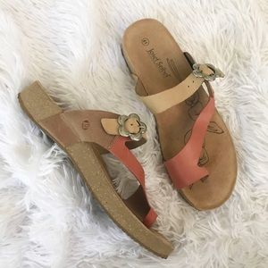 Josef Seibel Leather and Cork Sandals